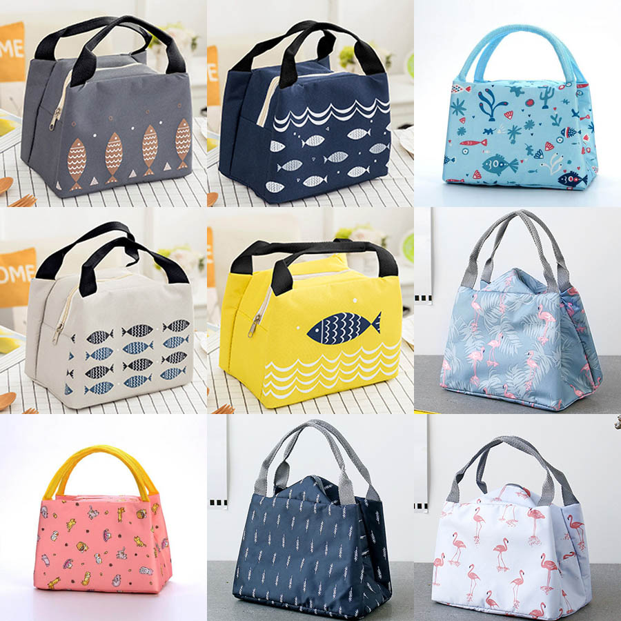 Women Ladies Girls Kids Portable Insulated Thermal Cooler Bento Lunch Box Cuctas Tote Picnic Storage Bag Pouch Food Lunch Bags