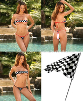 Black and white chess Match node flag series Line wrapped chest *3701*Underwear Panties Briefs For Ladies T back,Free Shipping