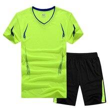 2017 mode Sommer Männer Set Sporting Anzüge Kurzarm T-shirt + shorts schnell trocknend 2 stück stellten beiläufige männliche trainingsanzug clothing