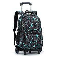 Дети тележки школьный рюкзак колеса Дорожная сумка школьный детей, школьные сумки тележки для девочек и мальчиков Съемная Mochila Escolar