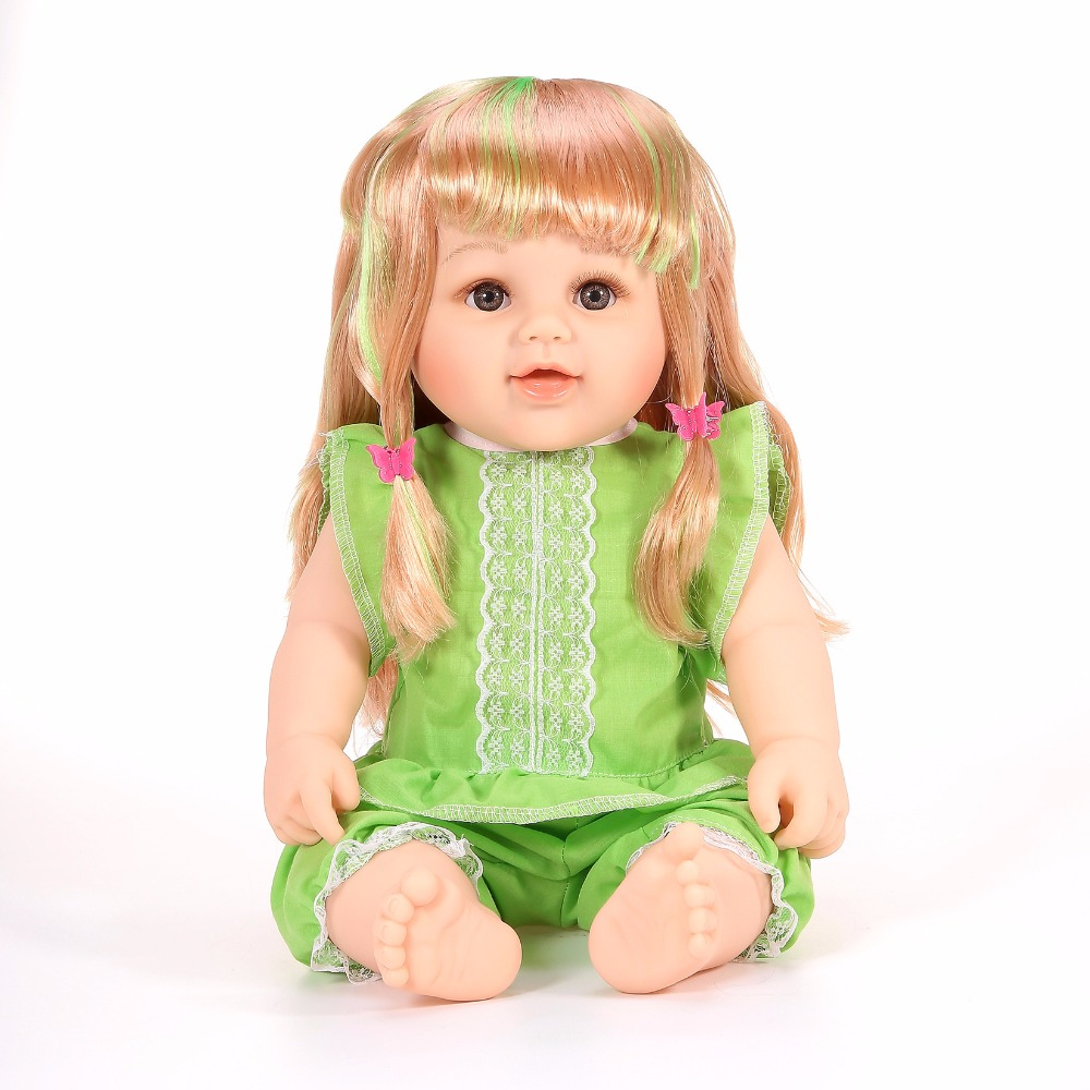 48cm Cute Lifestyle Vinyl Baby Doll Soft Boby American Girl Doll Fashion Dolls Baby Born Princess Dress Toys For Girl Gifts cute 18inch baby born doll shoes for american girl dolls baby born doll clothes accessories fashion handmade sneakers doll dress