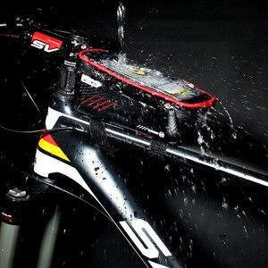 Image 3 - حقيبة دراجة عالمية من ARVIN مزودة بحامل للهاتف المحمول لهاتف iPhone X XR sansing S9 مضادة للمطر ومضادة للماء مع حقيبة أمامية مقاس 6.2 بوصة