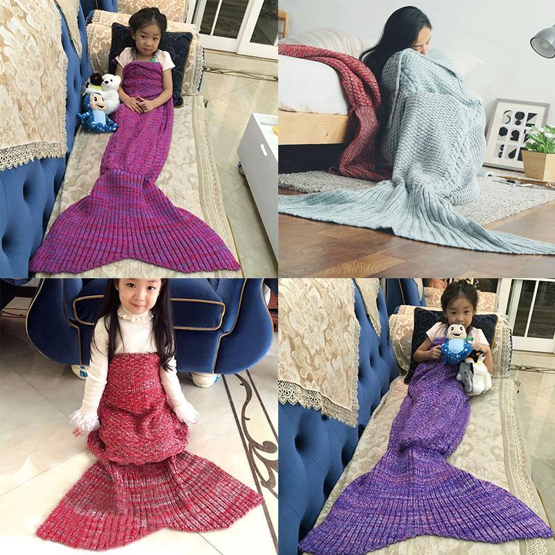 Soledi Child Mermaid Blanket Sofa Bed Sleeping Bag Kids Blankets Comfortable Fashion Zeemeermin Deken Drop Shipping