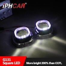 Бесплатная Доставка IPHCAR LHD/RHD 3 Дюймов LED Angel Eyes Фара H1 биксеноновые Объектив Проектора без H1 ксеноновая Лампа и Балласт
