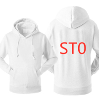 ST0 Fashion For Men's Spring Casual Custom Print Logos Male Cotton Hoodies Pullover Sweatshirts Slim Mans Solid Color Hooded Top