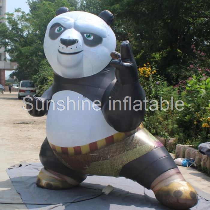 Factory direct sale Chinese treasure giant replica cartoon kungfu inflatable panda for advertisingFactory direct sale Chinese treasure giant replica cartoon kungfu inflatable panda for advertising
