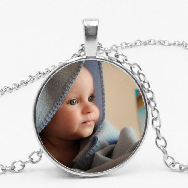 PERMITE FINO Tem Personalizado Foto Pingente, Colar Personalizado Da Foto, Querida Mãe, Pai, Avô, UM Presente, Membro Da Família Presente.