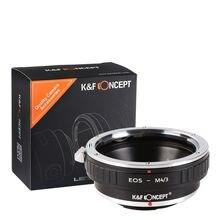K & F Konsept adaptörü Canon EOS EF FE/S dağı lens için Mikro 4/3 Montaj MFT M dört Üç Olympus M43 Panasonic G1/G2/GF1