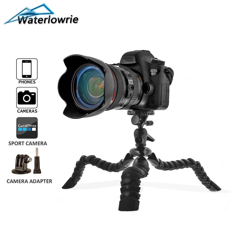 Waterlowrie Flexible Octopus Tripod Spider Digital Camere for Nikon Sony Canon DSLR Gopro Xiaomi yi Action Camera Accessories ...
