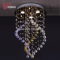 modern round crystal chandelier bedroom light free shipping