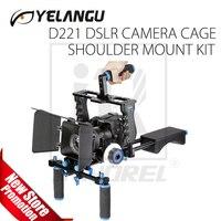 YELANGU D221 Professional DSLR Video Rig Shoulder Camera Stabilizer Matte Box Follow Focus Cage for Canon Nikon Sony DSLR