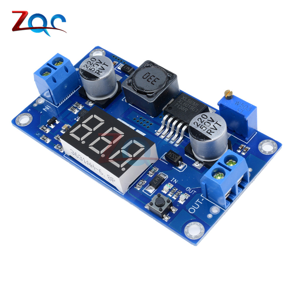 цена на DC-DC XL6009 Digital Boost Step Up Power Supply Module Adjustable 4.5-32V to 5-52V Step-up Voltage Regulator With LED Voltmeter