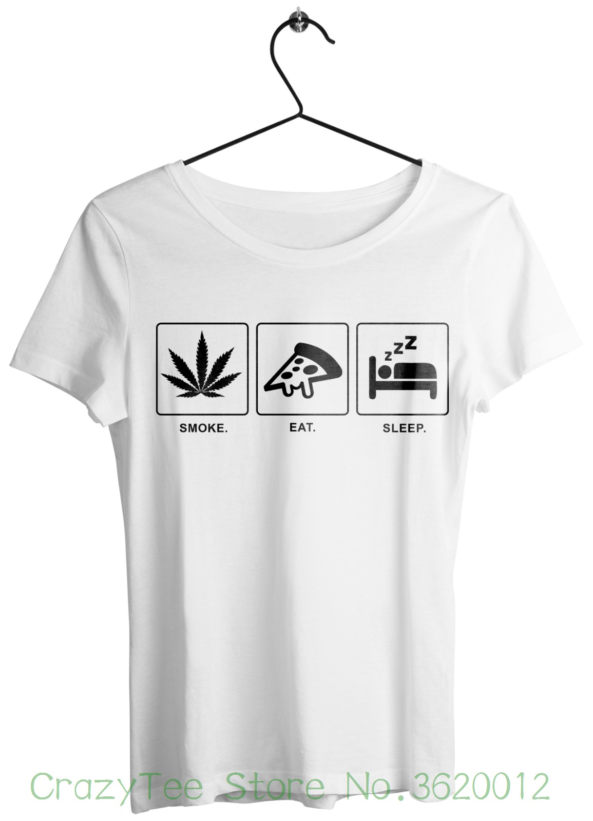 Women S Tee Smoke Eat Sleep Shirt Weed T Shirt Grunge Tumblr Fashion
