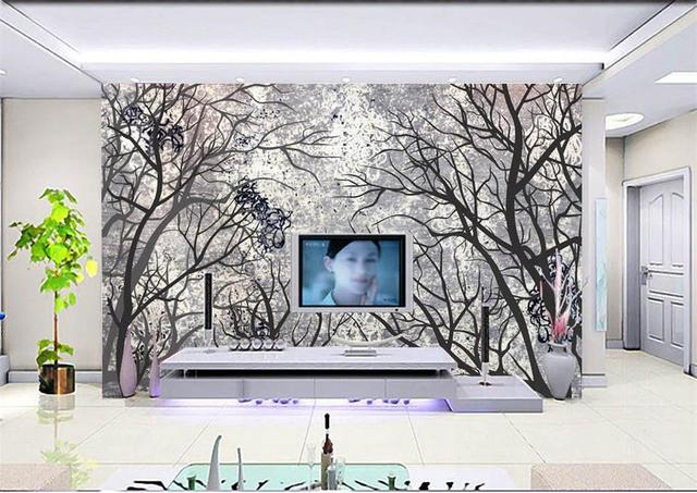 D kamer behang custom photo non woven mural adams diepe bos