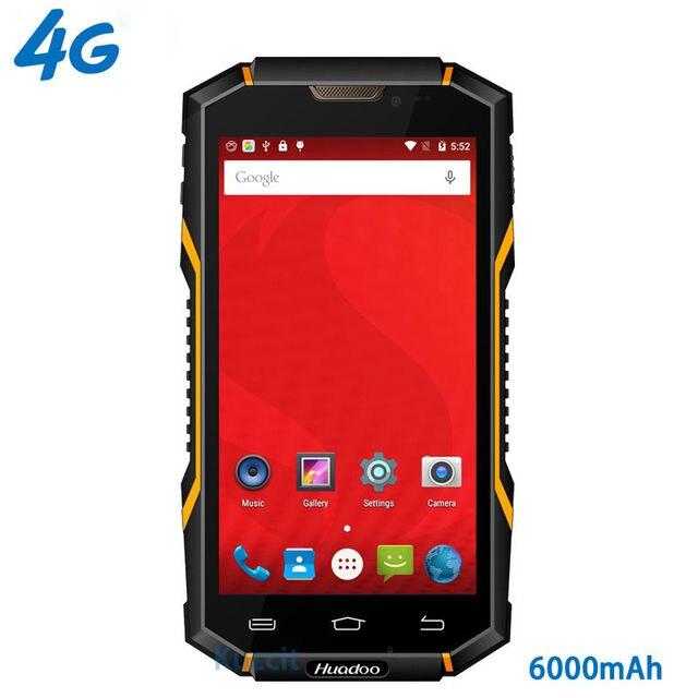 """original Huadoo HG06 IP68 Rugged Waterproof Phone 4G LTE Smartphone Android Shockproof Mobile phone 6000mAH MTK6735 5.0"""" GPS NFC"""