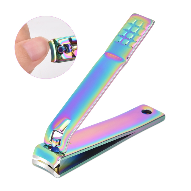 Set Rainbow Stainless Steel Nail Clipper Kit