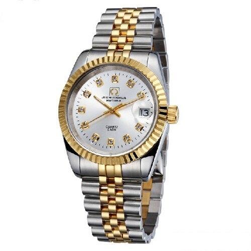 Carnaval luminoso impermeable totalmente automático de cuarzo para hombre reloj del ejército joyería de diamantes de imitación relojes masculinos de acero de marca de lujo - 4