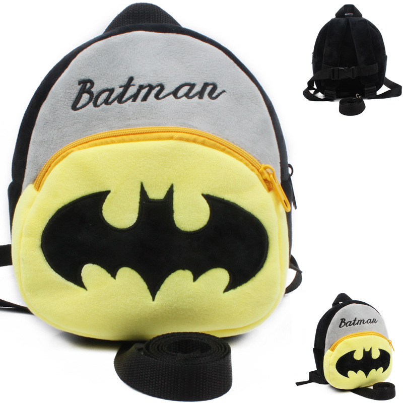 Soft Batman Baby Harnesses Leashes Baby Walking Wings Children Backpacks Strap Bag Plush Anti-lost Bag Activity & Gear For Baby