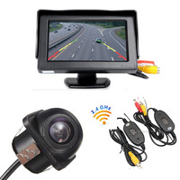 2 4G Wireless Auto Video Parking Assistance HD 4 3Color LCD Digital Screen Car Rearview Monitor