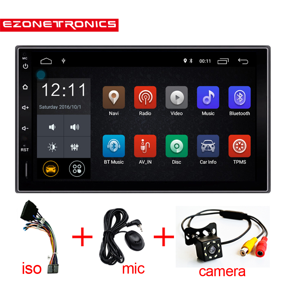 2 Din Android Car Radio Stereo 7inch Universal Car GPS Navigation Wifi Bluetooth USB DVR Radio Audio Player Car stereo player image