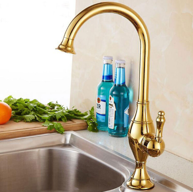 New Arrivals Water tap Single Lever Kitchen Faucet with Mixer Hot and Cold Water Tap Antique Painting Kitchen Sink Taps 3 Colors kemaidi solid brass kitchen mixer taps hot and cold kitchen tap single hole water tap kitchen faucet torneira cozinha