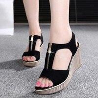 D Henlu 2018 Women Sandals Summer Platform Sandals High Heels Sandal Shoes Women Ladies Sandal Heels