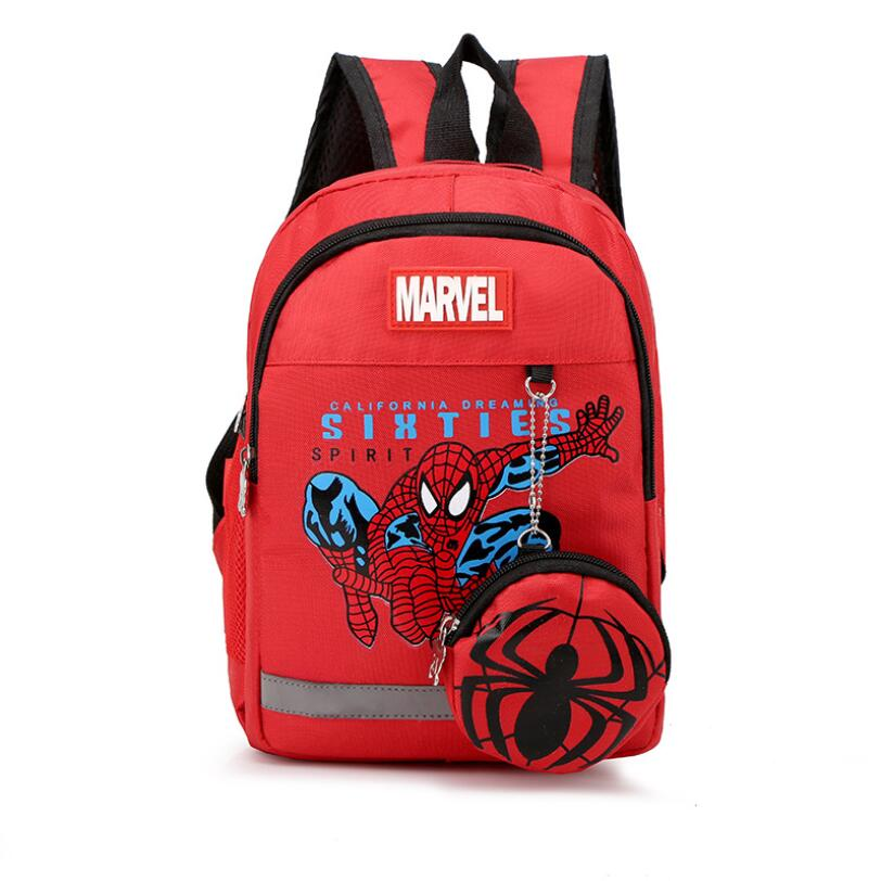 New Kids Backpacks Cute Cartoon Spiderman Printed School Bags For Kindergarten Girls Boys Children Bag