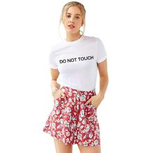 YEASERO H912 2016 Casual Summer Women T-Shirts White Tshirt Tees Tops DO NOT TOUCH Printed Funny Tumblr T Shirt Plus Size