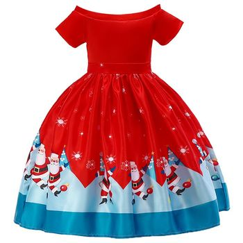 Christmas Dress For Girl 2-14 Years Ball Gown Pageant Girl Dress 1