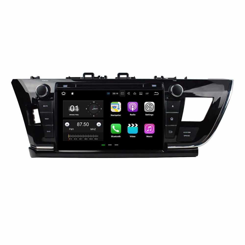2GB RAM Quad Core 9 Android 7.1 Car DVD Player for Toyota Corolla Left 2014 2015 With GPS Radio Bluetooth WIFI 16GB ROM USB DVR