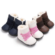 2018 Baby Girl Boy Snow Boots Winter Half Boots Infant Kids New Soft Bottom Warm Shoes