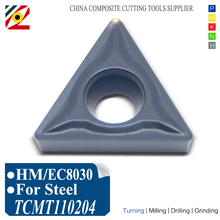 EDGEV CNC Indexable Carbide Inserts 10pcs TCMT110204 TCMT 110204 TCMT2151 EC8030 Boring Turning Tools Tungsten Blade for Steel