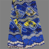 New Coming African Real Ankara Wax With Cord Lace Fabric For Wedding Party Dress WLF162 6yards