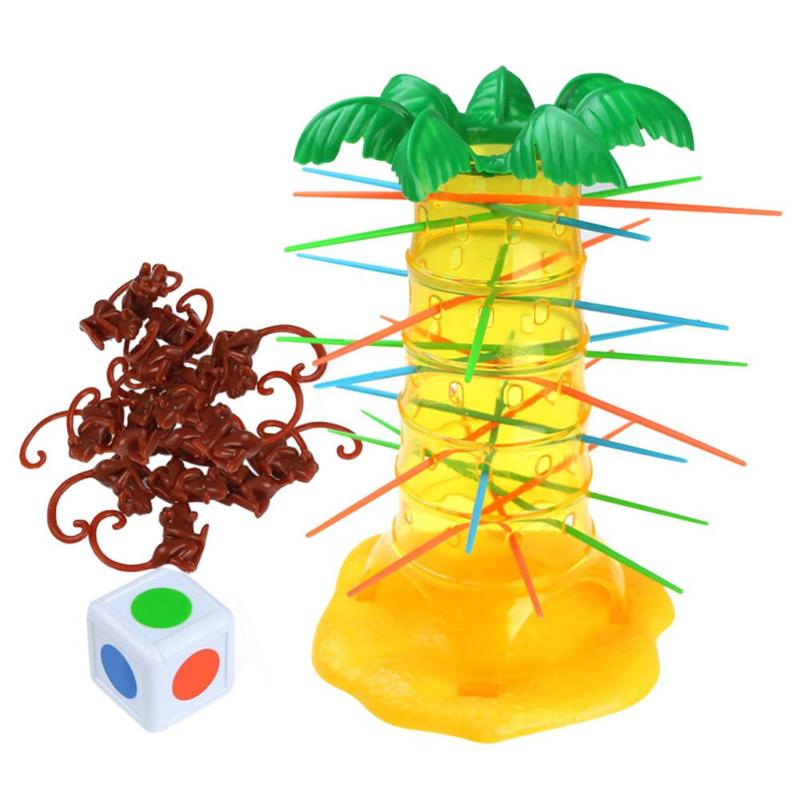 DIY Building Blocks Monkey Tree Game Interactive Toy Comprehension Construction Promoting Educational Toys for Children Kids