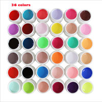 36 Kleuren/set Pure Colour uv gel Nail Art Tips Glanzende Cover Extension Manicure gel gereedschap, 30 kleuren/12 kleuren/24 kleuren uv gel kit