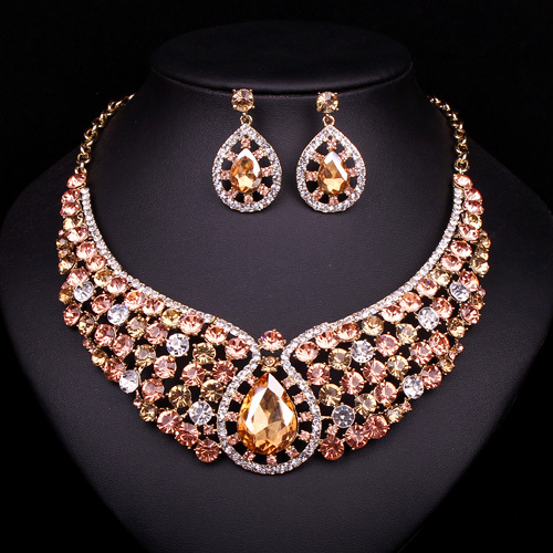 Aliexpress Buy New Fashion Crystal Necklace Earrings