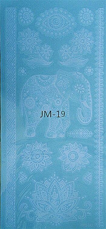 White Ink Henna: JM 19 ,New Flash Metallic Waterproof Tattoo Women White