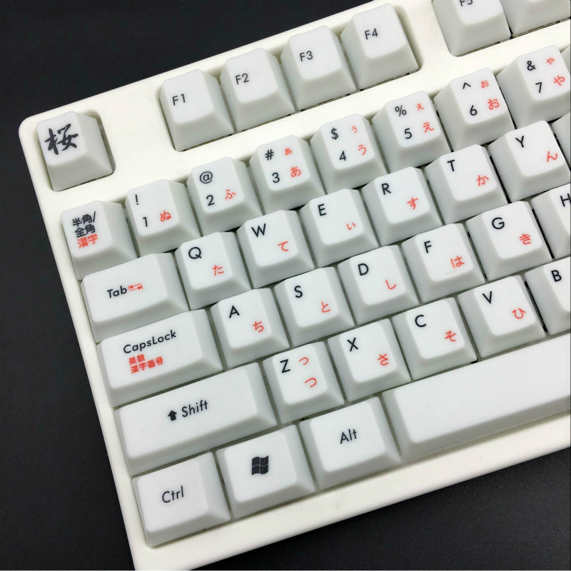 Japanese sakura Keycap Original Height 108 Keys PBT Keycaps Mechanical Keyboard For Cherry MX Keycaps And All Standard Keyboard h1z1 battle royale game keycap r4 height alloy full metal keyboard keycaps for cherry mx switches teclado mecanico keycaps