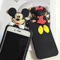 Luxury 3d cute mickey minnie mouse case for iphone 6 plus funny cartoon case for iphone 6s 5 5s SE soft silicone cover girl