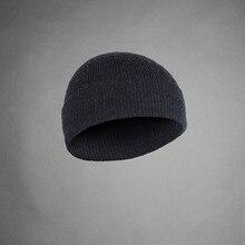 100% super fino merino lã masculina unisex gorro chapéu esportes mais quente inverno ao ar livre com nervuras malha warden estilo tad boné