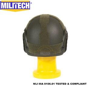 Image 4 - MILITECH Oliver Drab OD Deluxe Super High Cut Maritime NIJ level IIIA Bulletproof FAST Aramid Bullet Proof Ballistic Helmet CAG