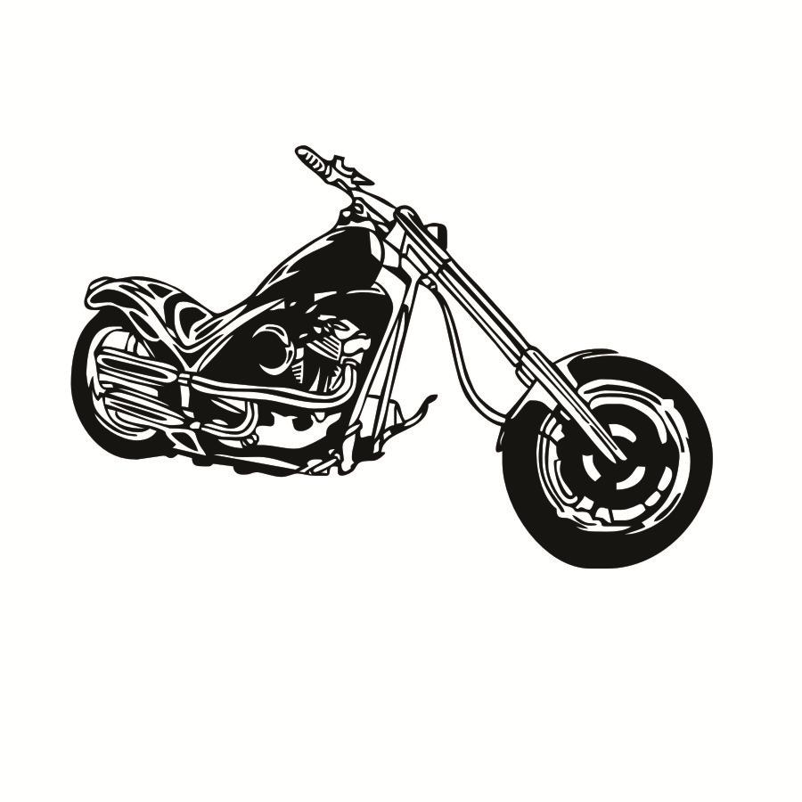 Retro classic motorcycle machine wall stickers diy removable vinyl poster chopper wall sticker decal mural decor for play room in wall stickers from home