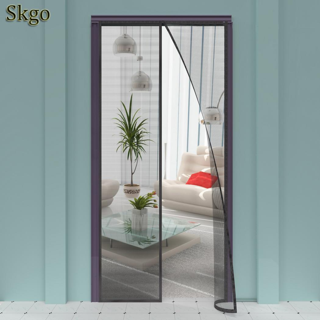 Bright With Black Screen 1 2 Curtain Hand-free Door Magnetic No Magnetic Mesh Solid Summer Mosquito Prevent Middle In Short Supply