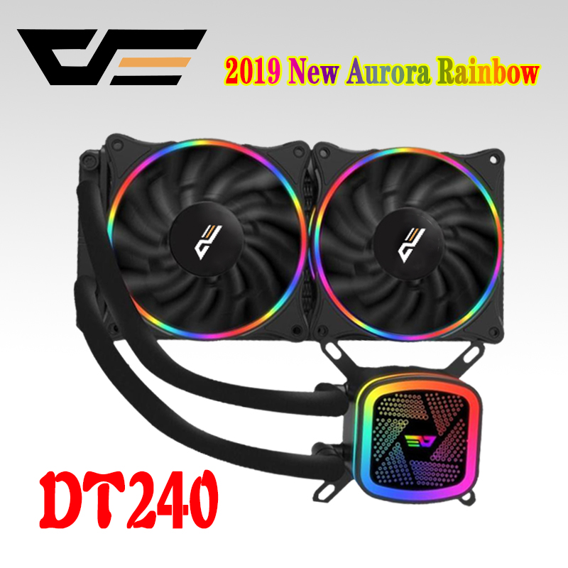 darkFlash Aigo CPU Water Cooler 120mm Mute PC Fan Liquid Fluid Cooling Radiator Aluminum Water Cooler