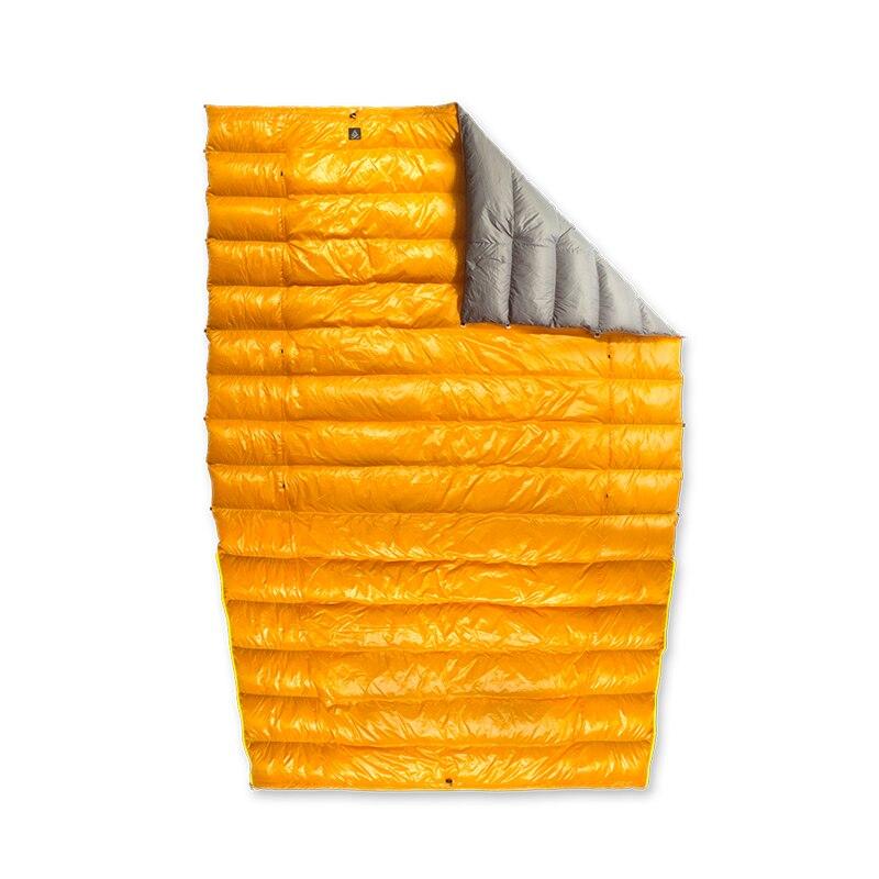 Chama gelo 20D Primavera Outono Inverno 90% de Pato Branco Para Baixo Múmia Saco de Dormir Cobertor Mat Colcha Underquilt Rede Terreno de Campismo