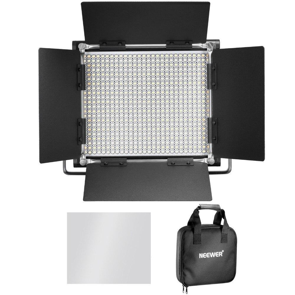 Neewer 3200-5600 К Двухцветный затемнения CRI 95 660 светодиодный свет + U кронштейн Шторки для Studio /YouTube/фото/видео ЕС разъем ...