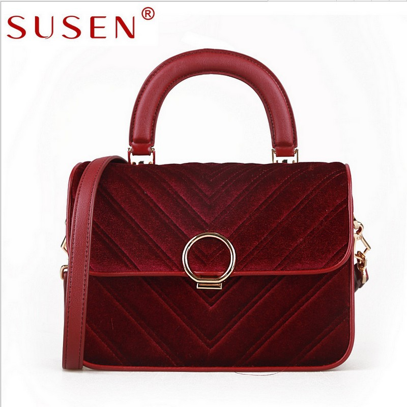 Vintage Fashion Women Girl Lady flannel Autumn Winter Famous Brand Designer Shoulder bag Messenger Bag new 2016 designer girl autumn