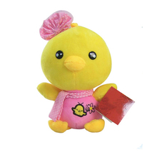 High Quality 20cm Chicken Plush Toys Lovely Baby Kid Stuffed Toy With Hat Hairband Soft Material New Year Lucky Animal Best Gift