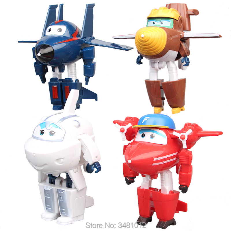 4//8//12Pcs Super Wings TV Transforming Animation Air-Planes Mini Kids Toy Gift