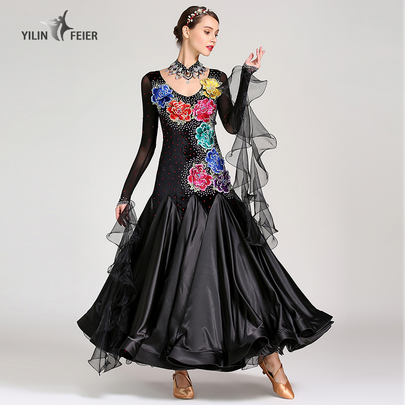 New Ballroom Dance Competition Dress Dance Ballroom Waltz Dresses Standard Dance Dress Women Ballroom Dress  S7028